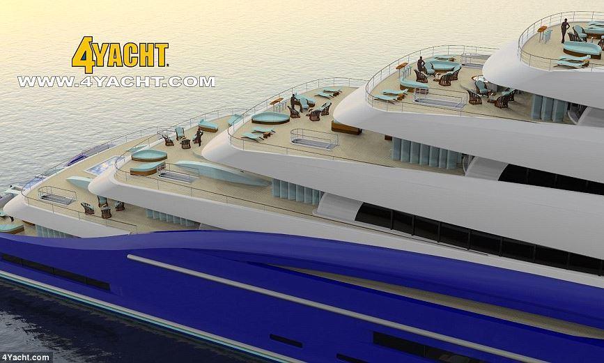 Gli yacht pi lunghi del mondo for Il canotto a bordo degli yacht