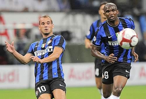 Un tiro del neointerista Sneijder (Ansa)