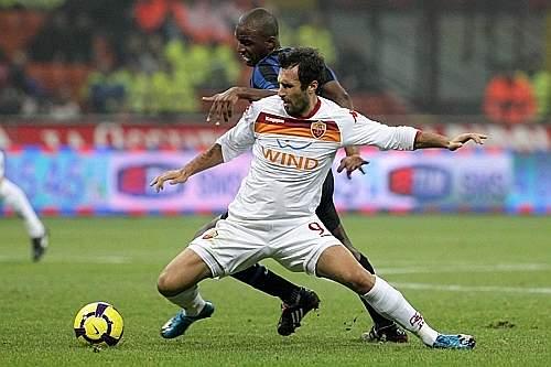 Inter-Roma: Vucinic, autore del gol giallorosso (Daniele Badolato/LaPresse)