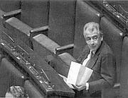 L'ex ministro in aula a Montecitorio
