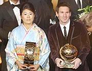 La giapponese Homare Sawa e Lionel Messi (LaPresse)
