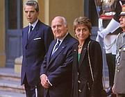 Oscar Luigi Scalfaro con la figlia Marianna (Agf)