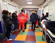 L'entrata del pronto soccorso del policlinico Umberto I di Roma (Ansa)