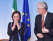 Il premier Monti e il ministro del Welfare Elsa Fornero (Eidon)