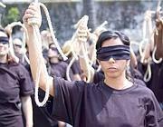 Una manifestazione anti pena di morte (Amnesty)