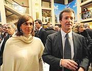 Cristina Parodi con il marito Giorgio Gori, produttore televisivo