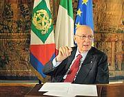 Il presidente della Repubblica Giorgio Napolitano (Ansa)