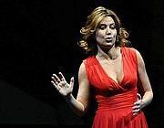 L'artista Sabina Guzzanti, conduttrice di «Un,due, tre stella» (Fotogramma)