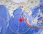 L'epicentro del terremoto dell'11 aprile 2012 (Reuters)
