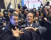 Hollande festeggiato (Afp)