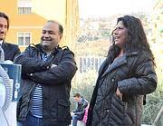 Belsito e Rosi Mauro (Foto Ansa)