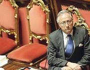 Il ministro Patroni Griffi in aula al Senato (Ansa)