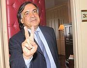 Leoluca Orlando, neo sindaco di Palermo (Fotogramma)