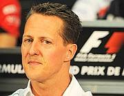Michael Schumacher in pole con la sua Mercedes nel gp monegasco (Afp)