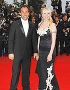 Matteo Garrone con la moglie Nunzia (Epa)
