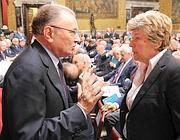 Il presidente di Confindustria Giorgio Squinzi con il segretario della Cgil Susanna Camusso (Ansa)