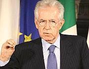 Il presidente del Consiglio, Mario Monti (Imagoeconomica)