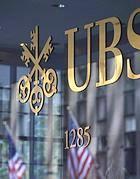 Il logo di Ubs, la banca svizzera che nel 2010 chiuse l'accordo con gli Stati Uniti fornendo il nome di circa 4mila correntisti Usa che avevano 'esterovestito' il proprio patrimonio, sfuggendo alle maglie del fisco