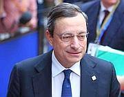 Il presidente della Bce Mario Draghi (Ansa)