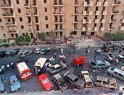 Un'immagine di Via D'Amelio dall'alto (Ansa)