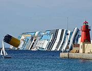 Il relitto della Costa Concordia (Afp)