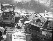 Via D'Amelio alcuni minuti dopo l'esplosione (Ansa)