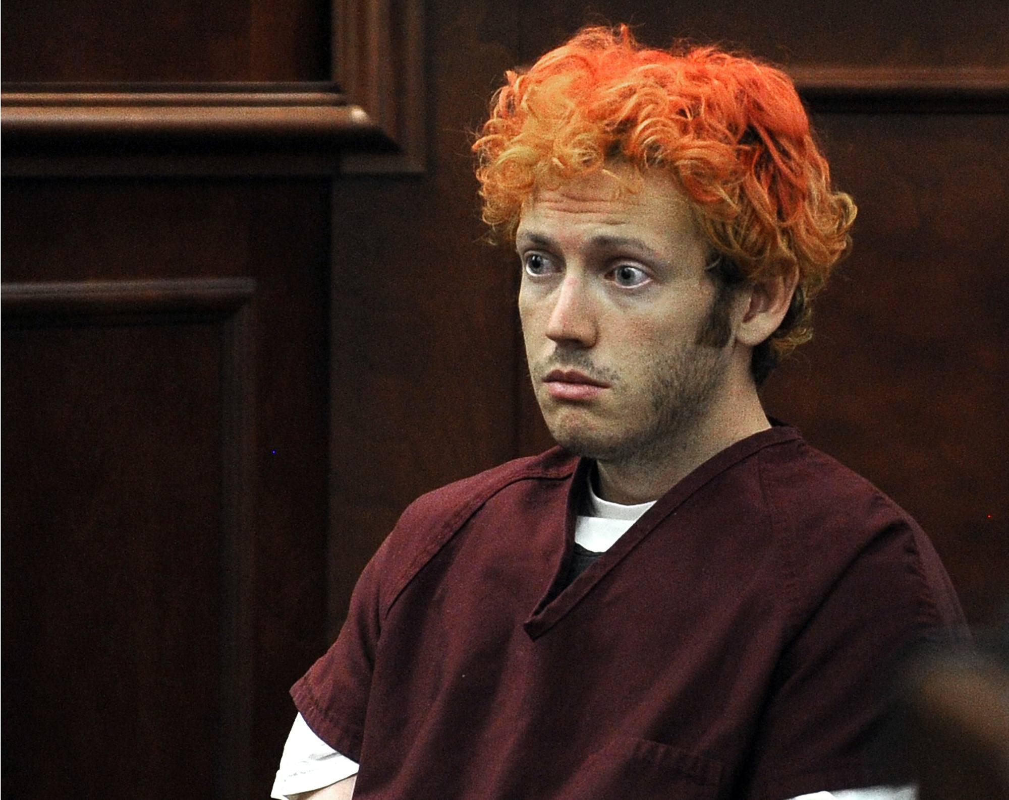 James Holmes durante il processo per la Strage di Denver