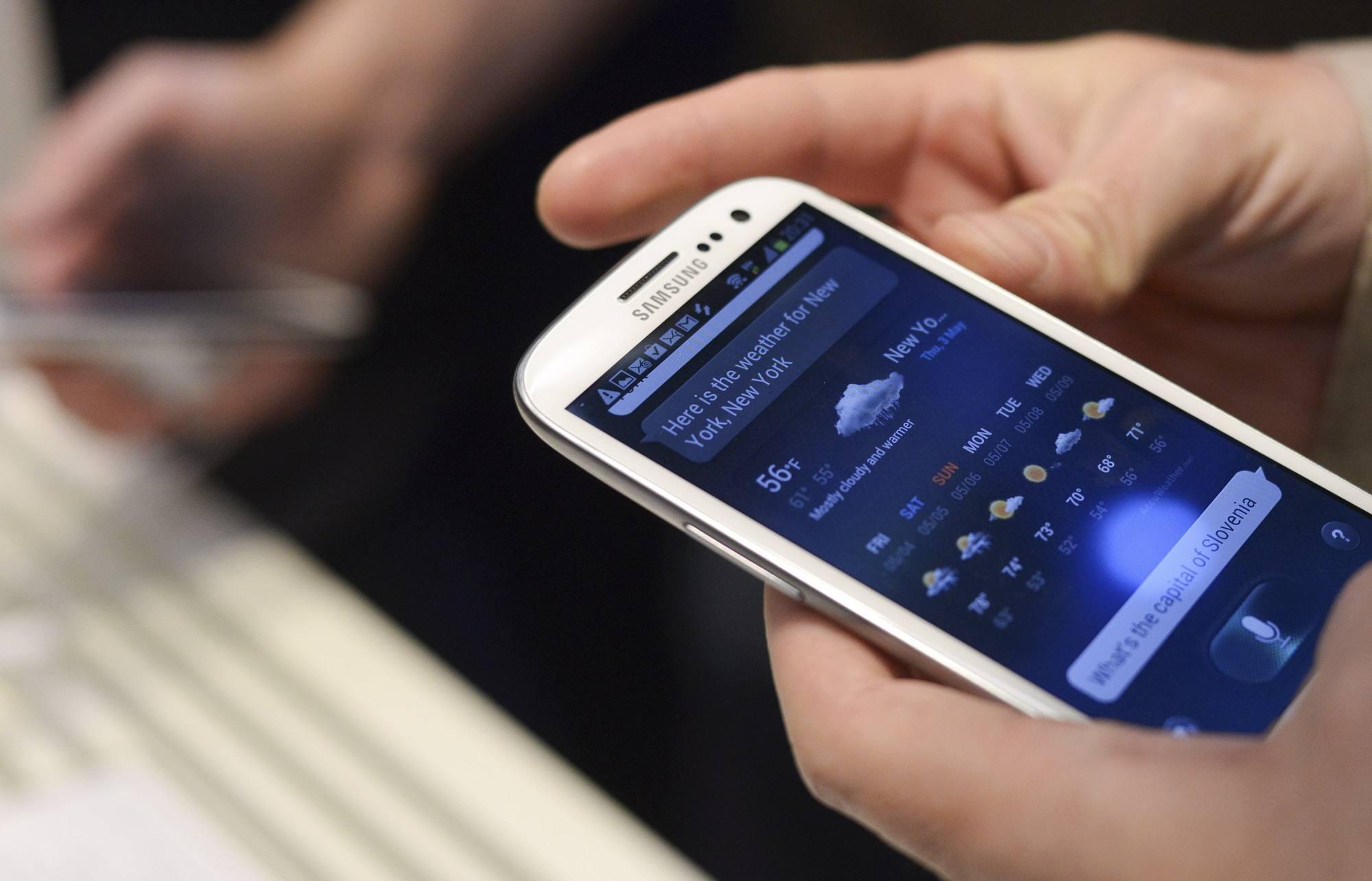 Il Samsung Galaxy SIII (Reuters)
