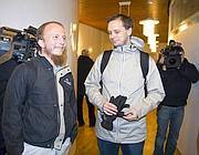 I fondatori di Pirate Bay Gottfrid Svartholm Warg (a sinistra) e Peter Sunde (Ap)