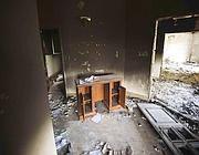 Un'immagine dei locali devastati dell'ambasciata Usa a Bengasi (Afp)