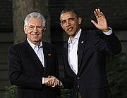 Monti e Obama a Camp David lo scorso maggio (LaPresse)