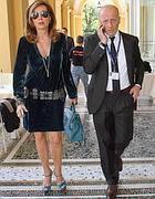 Alessandro Sallusti con la compagna, l'onorevole  Daniela Santanch� (Ansa)