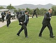 Silvio Berlusconi a Villa Certosa (Ansa)