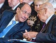 Il presidente del Senato Renato Schifani con il presidente della Repubblica Giorgio Napolitano (LaPresse)