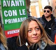 Giorgia Meloni, deputata Pdl, sostenitrice delle primarie (Omniroma)