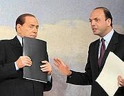 Berlusconi e Alfano (ImagoEconomica)