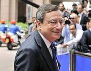 Mario Draghi, presidente della Bce (Afp)