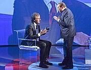 Berlusconi da Massimo Giletti (LaPresse)