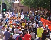 Una manifestazione di disoccupati negli Usa (archivio Corriere)