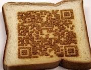 Codice Qr stampato su una fetta di pane (Fukuchi)