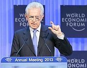 Mario Monti al forum di Davos (Reuters)