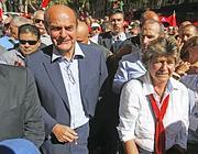 Bersani e Camusso alla presentazione del Piano del lavoro della Cgil (Ansa)