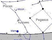La posizione della cometa in cielo mercoled� 13 marzo (Nasa)