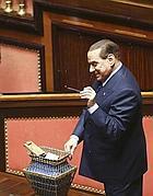 Il leader Pdl Silvio Berlusconi