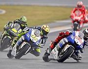 Le tre Yamaha di Crutchlow, Rossi e Lorenzo