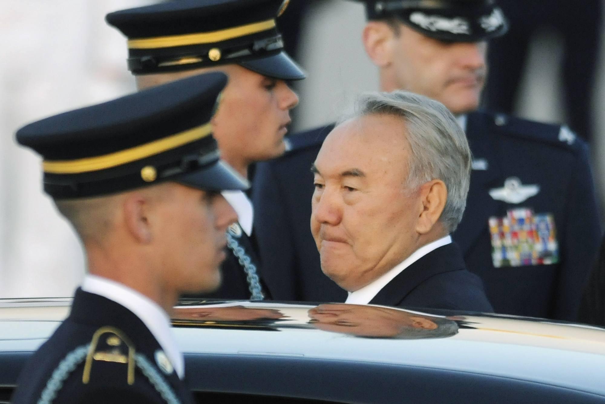 Nazarbayev durante una visita ngli Usa (Reuters)
