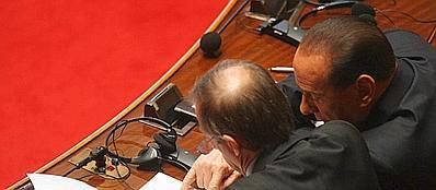 Silvio Berlusconi e Piero Fassino in una foto d'archivio (LaPresse)