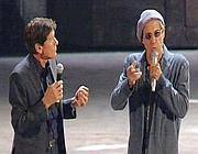Adriano Celentano e Gianni Morandi (Ansa)