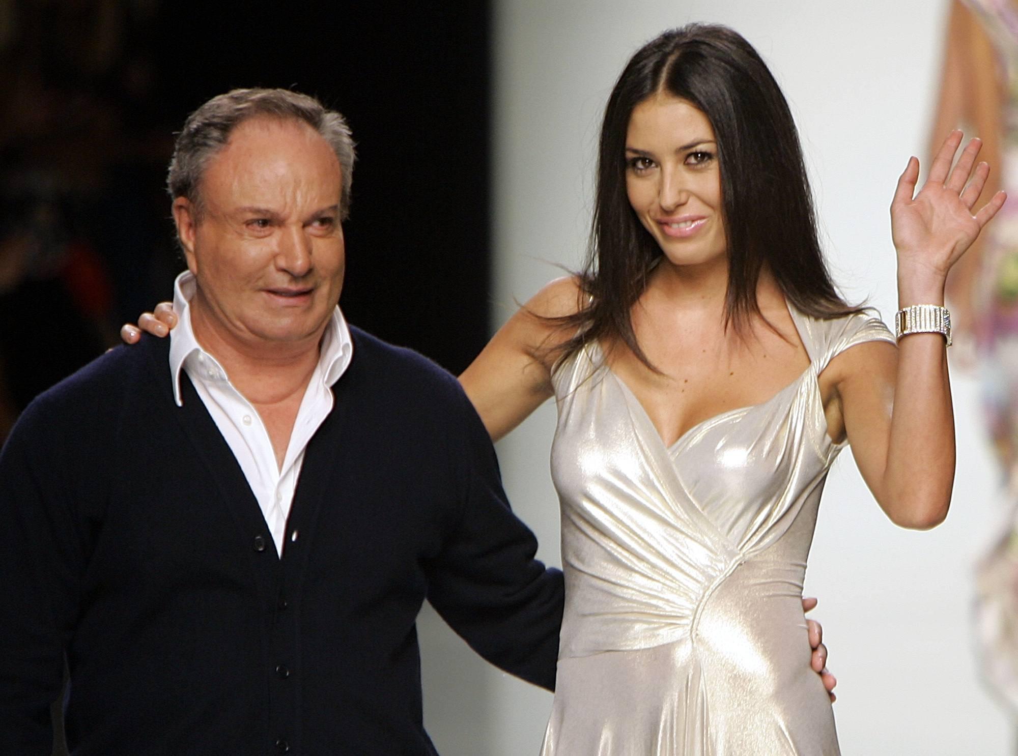 Elisabetta Gregoraci qui con lo stilista Rocco Barocco (Ap)