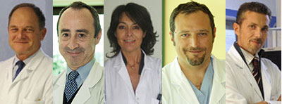 Gli specialisti del forum sulla gastroenterologia di Corriere.it: da sinistra Alberto Malesci, Alessandro Repici, Beatrice Salvioli, Silvio Danese e Luigi Laghi